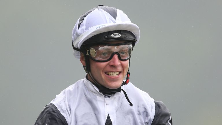 Ray Dawson smiles after victory on Zain Claudette in the Group Three Princess Margaret Keeneland Stakes at Ascot