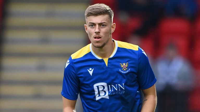 PERTH, SCOTLAND - JULY 13: St Johnstone's Reece Devine during a pre-season friendly between St Johnstone and Preston North End at McDiarmid Park, on July 13, 2021, in Perth, Scotland. (Photo by Paul Devlin / SNS Group)