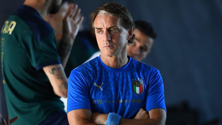 L'allenatore dell'Italia Roberto Mancini