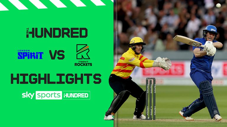 Watch the best of the action from Lord's where London Spirit took on the Trent Rockets in The Hundred
