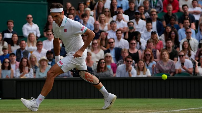 Highlights from day four of the Wimbledon Championships including wins for Roger Federer, Ashleigh Barty and Britain's own Cameron Norrie and Emma Raducanu