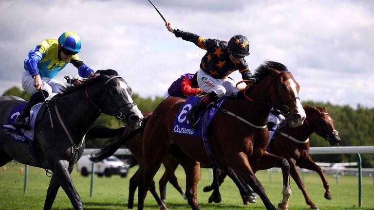 Rohaan beats Dragon Symbol in the Sandy Lane Stakes at Haydock