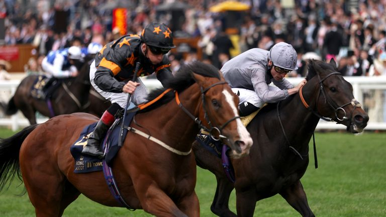 Shane Kelly rides Rohaan to victory in the Wokingham Stakes at Royal Ascot