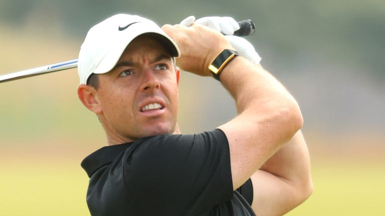 Rory McIlroy is in action at the abrdn Scottish Open