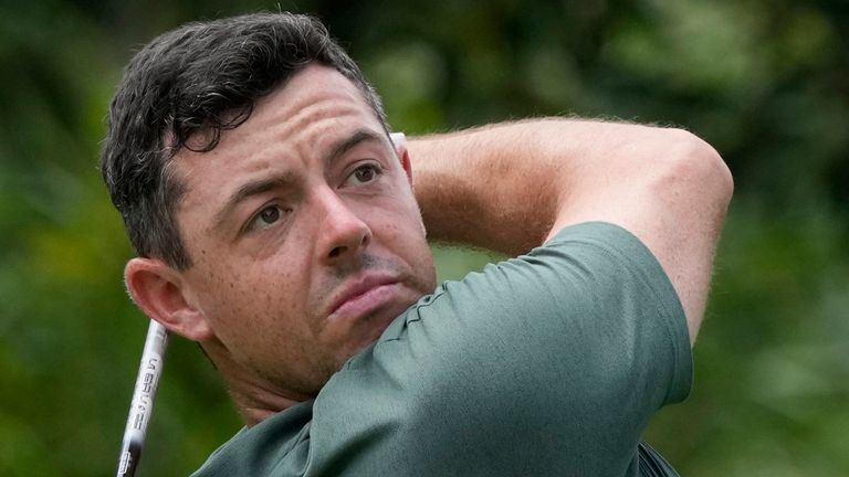 Rory McIlroy is three off the lead heading into the final round in Japan