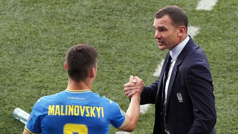 PA - Ruslan Malinovsky with Andriy Shevchenko