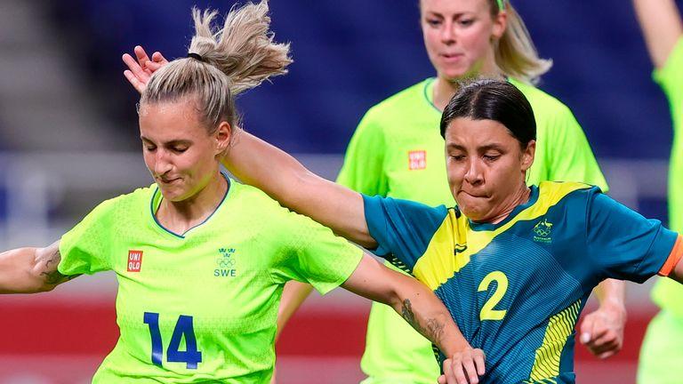 Sweden and Australia met in Group G