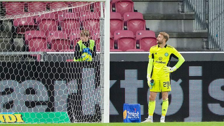 Scott Bain shows his dejection after Celtic slump to defeat