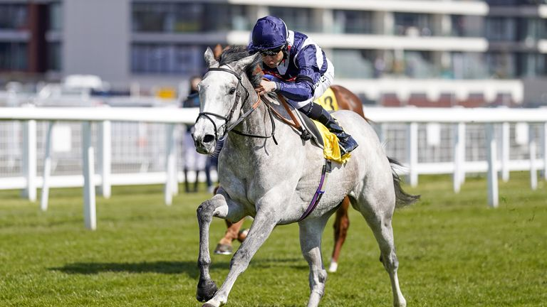 Sean Levey rides Snow Lantern to victory at Newbury in April
