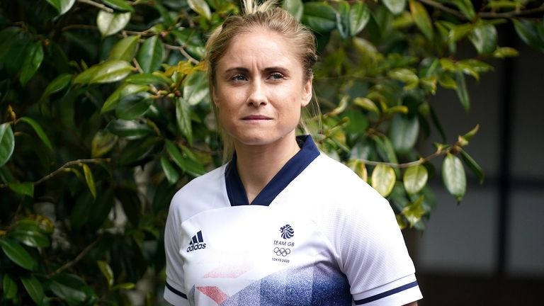 Team GB and Manchester City's Steph Houghton during the Team GB Tokyo 2020 Women's Football Team Announcement at the Botanical Gardens, Birmingham. Picture date: Thursday May 27, 2021.