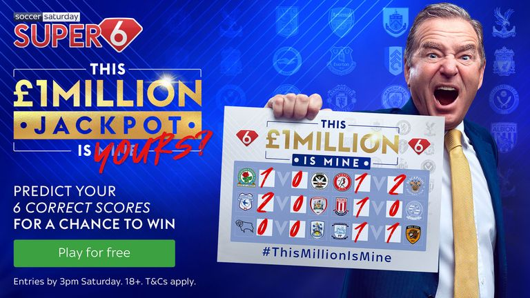 Super 6 makes its return for the 2021/22 season with a £1,000,000 jackpot!