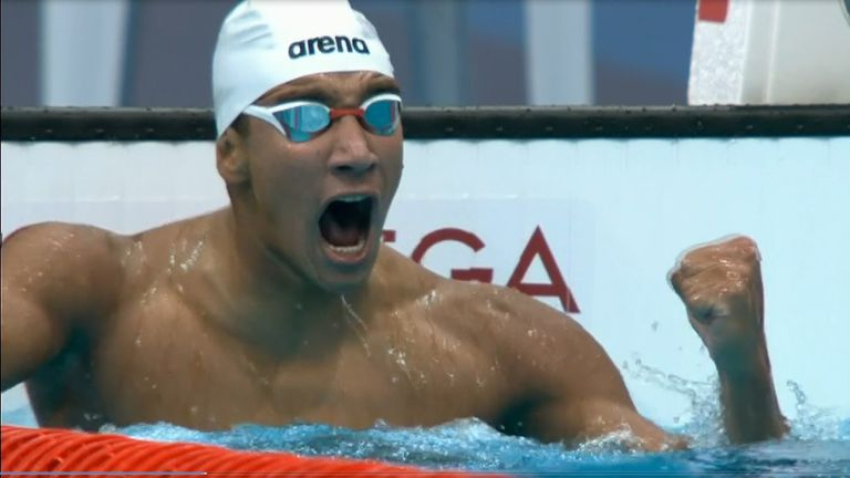 18-year-old Tunisian Ahmed Hafnaoui stunned swimming superpowers with victory in the men's 400m freestyle in Tokyo