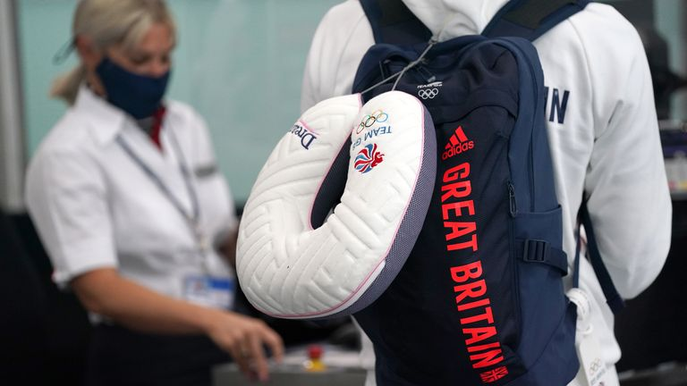 GB athletes are travelling to Japan ahead of the start of the Games on July 23