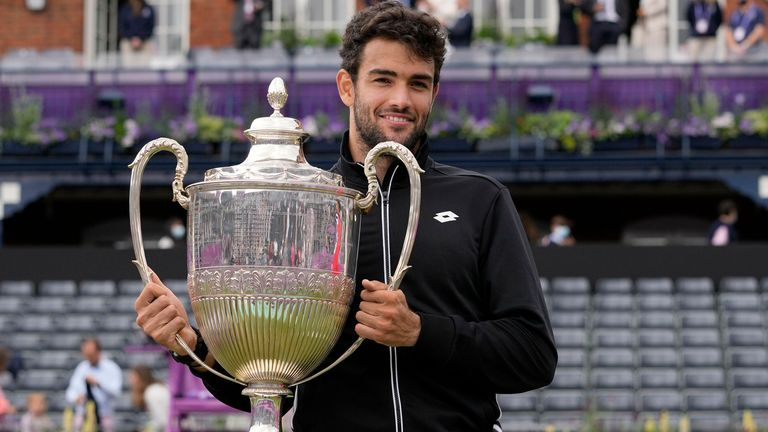 Matteo Berrettini won the title at Queen's Club this summer