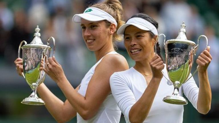 The third seeds triumphed on Centre Court after Ash Barty had won the women's singles title on Saturday
