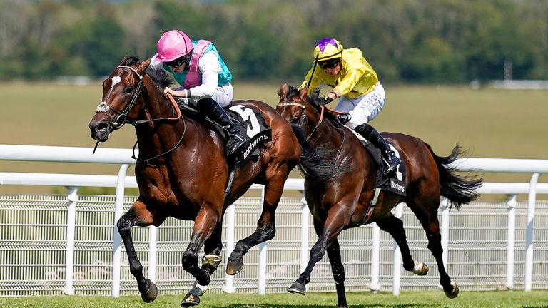 Tilsit wins the Group Three Bonhams Thoroughbred Stakes at Goodwood