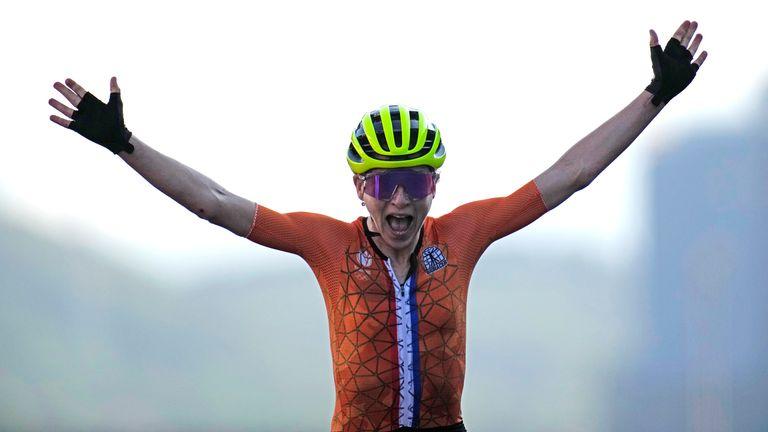 Annemiek van Vleuten won silver for the Netherlands in the women's road race at the Tokyo 2020 Olympics