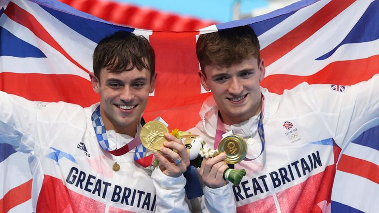Great Britain's Tom Daley and Matty Lee are the Olympic champions in the men's synchronised 10m diving