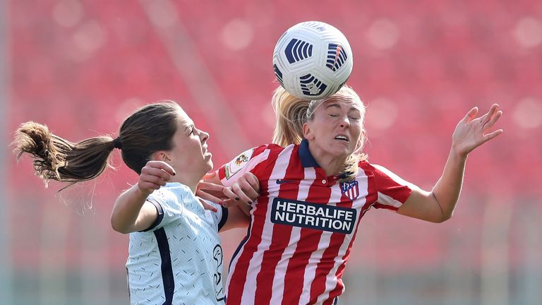 AP - Duggan previously spent two years with Atletico Madrid before sealing her Everton return