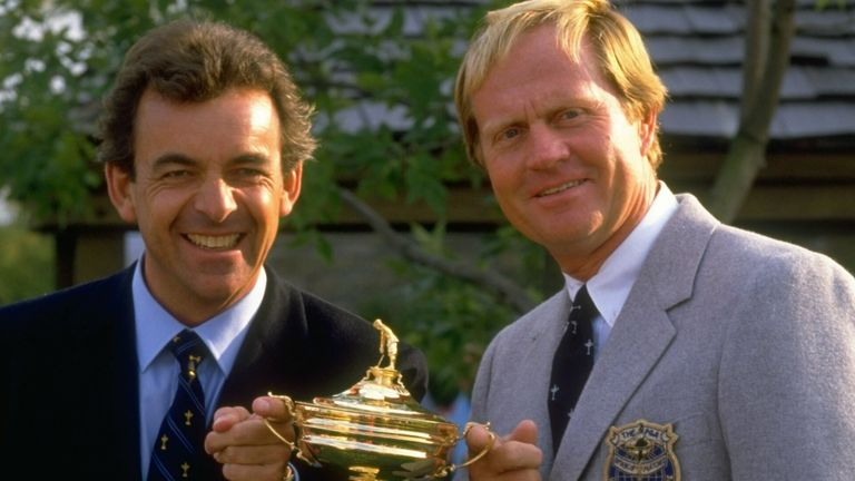 Tony Jacklin (left) and Jack Nicklaus (right) were captains during the 1987 contest at Muirfield Village