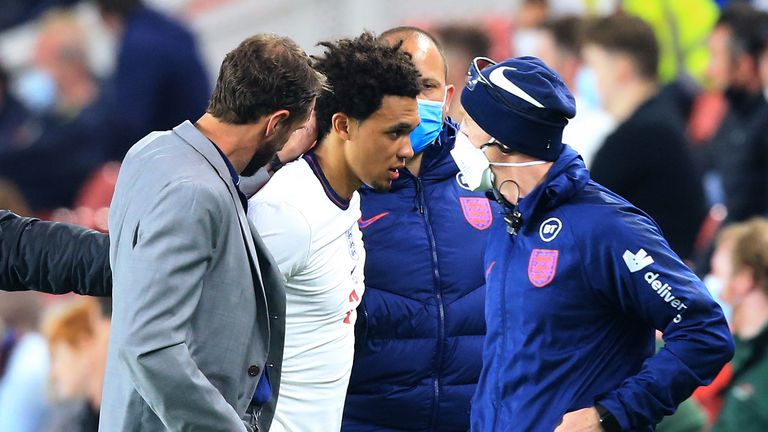 PA - Trent Alexander-Arnold was injured on England duty and missed Euro 2020