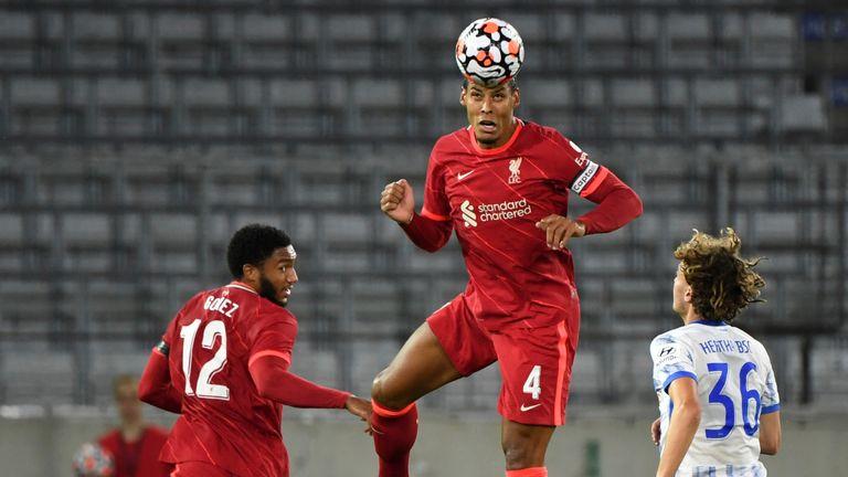 Virgil van Dijk and Joe Gomez in action for Liverpool against Hertha Berlin on Thursday