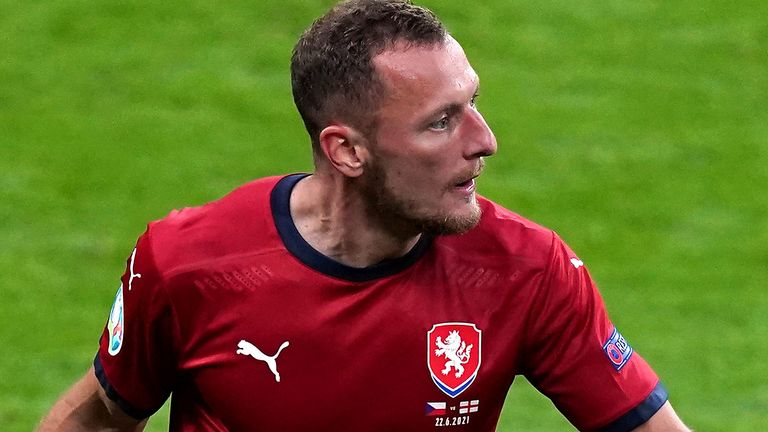 Vladimir Coufal impressed at Euro 2020 for the Czech Republic (PA)