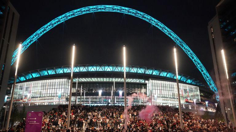 Wembley Stadium, Euro 2020 final (PA)