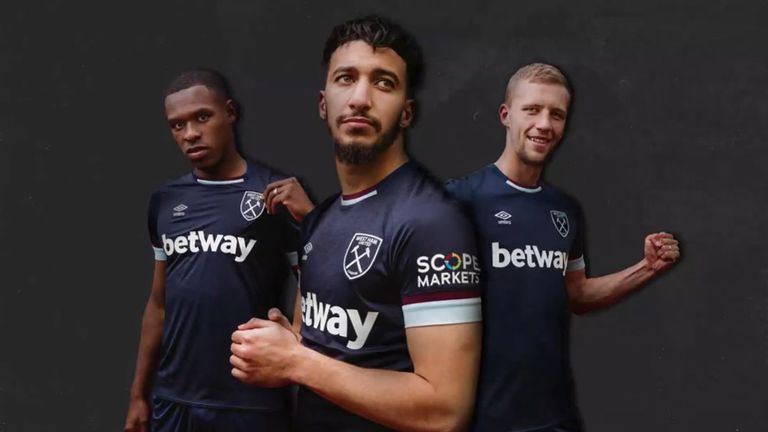 West Ham have released a new navy third shirt