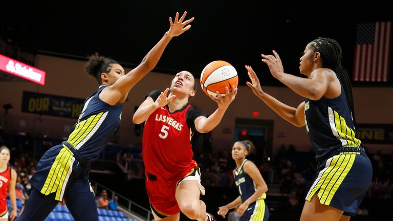 Highlights of the regular season game between the Las Vegas Aces and the Dallas Wings in the WNBA.