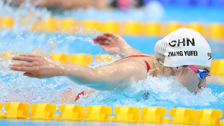 China's Zhang Yufei excelled in the women's 200m butterfly fnal