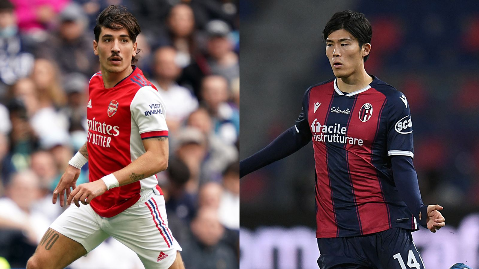 Takehiro Tomiyasu: Arsenal agree £19.8m deal for Bologna defender with Hector Bellerin close to Real Betis move