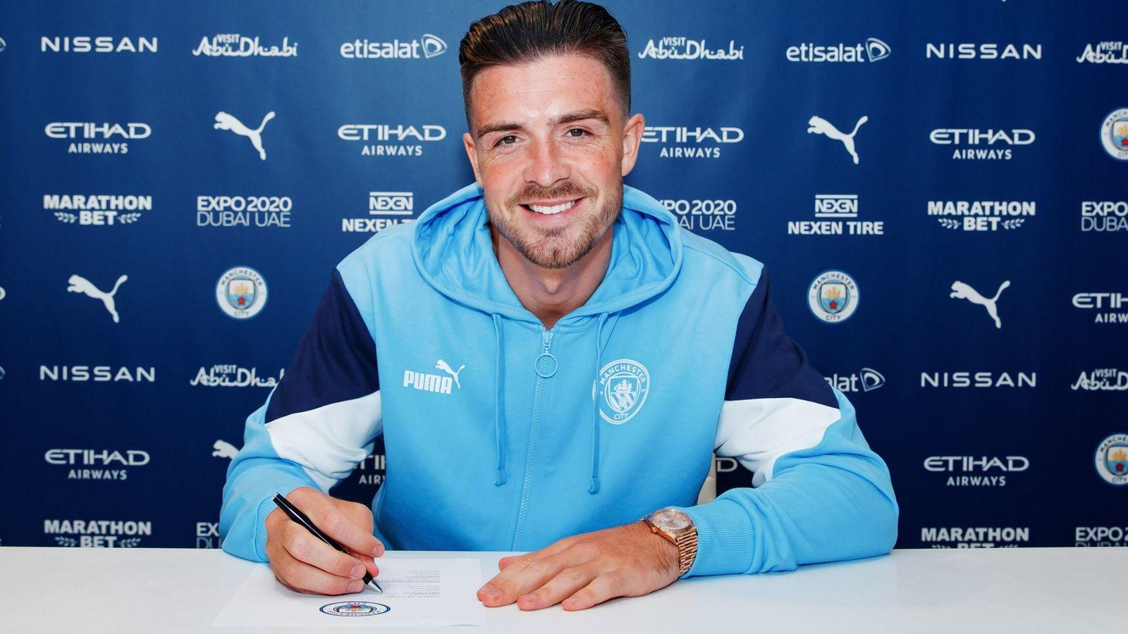 Jack Grealish Manchester City Sign Aston Villa Captain For 100m Football News Sky Sports
