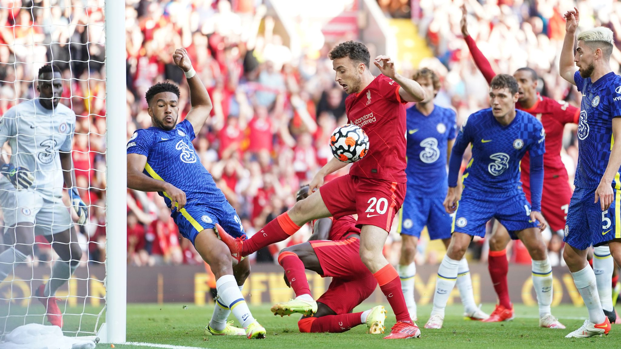 Liverpool 1-1 Chelsea: Blues hold out in second half after Reece James' red  card   Football News   Sky Sports
