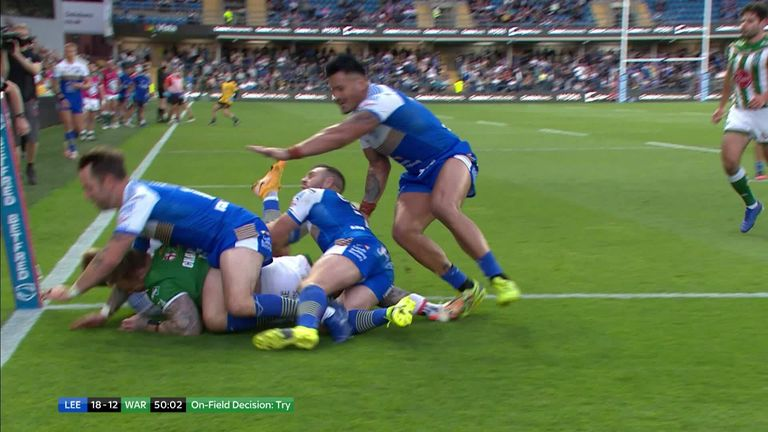 Warrington's Josh Charnley crossed the line to level up against Leeds Rhinos, but should the try have stood?