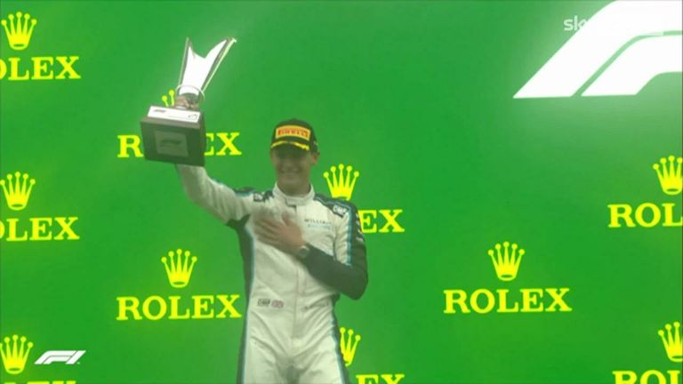 In the strangest of circumstances, Russell has his first F1 podium
