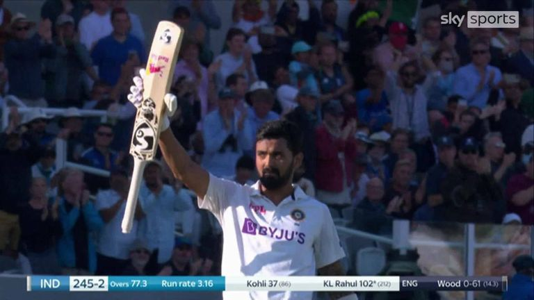 KL Rahul's tremendous century put India in a commanding position on the first day of the second Test against England