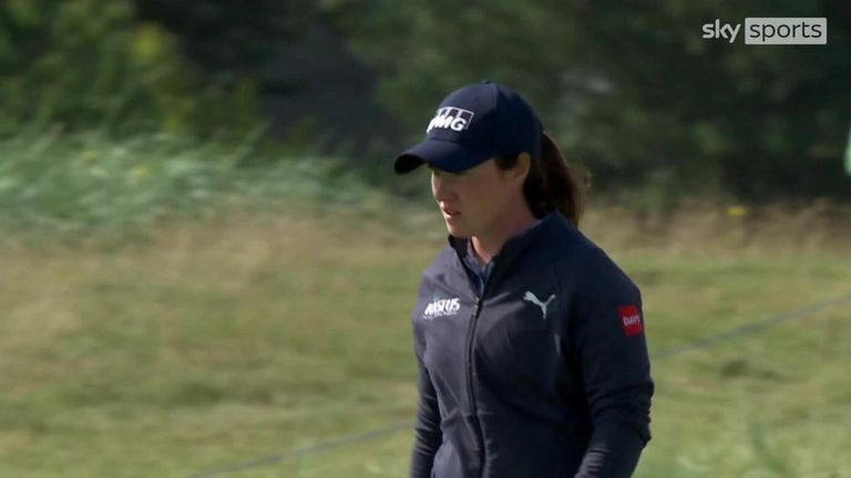 The best of the action from the second round of the final major of the year at Carnoustie, where Georgia Hall shares the lead at the halfway stage.