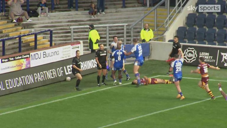 On an emotional night at Headingley Leeds Rhinos faced Huddersfield Giants in the first game of the Rivals Round