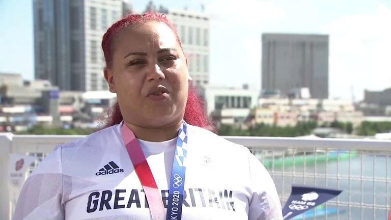 Team GB's silver medal-winning weightlifter, Emily Campbell says she hopes she has inspired young girls and boys to try the sport