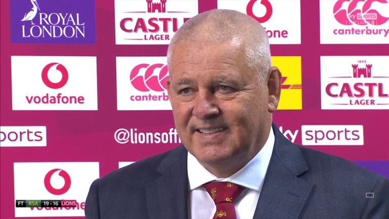 Warren Gatland was proud of his players but rued a couple of big moments that went against his British Lions team as South Africa triumphed 19-16 to win the series