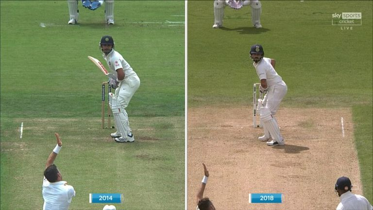 Nasser Hussain takes a close look as to why Virat Kohli has struggled to score runs so far this series