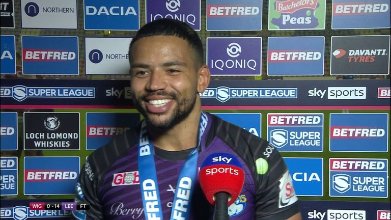 Leeds' Kruise Leeming has been named as the star performer after helping the Rhinos to victory over Wigan Warriors