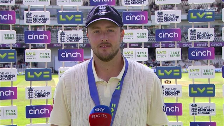 Ollie Robinson reflects on his Player of the Match performance in England's victory over India in the third Test at Headingley