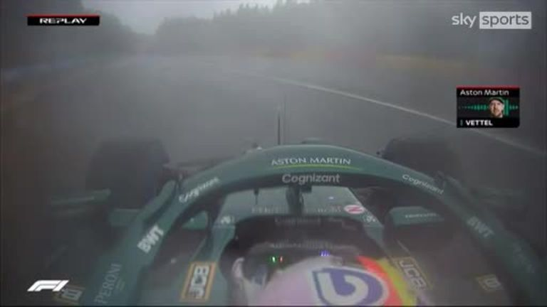 Sebastian Vettel was angry after hearing of Norris' huge crash, having already voiced his concerns about safety in the wet conditions