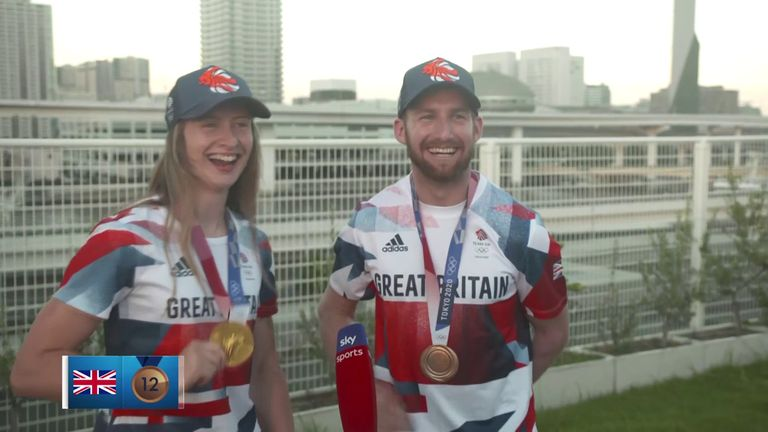 Team GB BMX freestylers Charlotte Worthington and Declan Brooks join Geraint Hughes to reflect on their respective Olympic gold and bronze medals