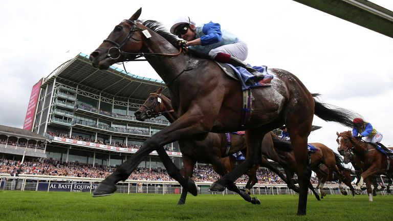 Sam Cooke ridden by Rob Hornby wins the Sky Bet Handicap during Coolmore Nunthorpe day of the Welcome to Yorkshire Ebor Festival 2021 at York racecourse. Picture date: Friday August 20, 2021. See PA story RACING York. Photo credit should read: Nigel French/PA Wire. RESTRICTIONS: Use subject to restrictions. Editorial use only, no commercial use without prior consent from rights holder.
