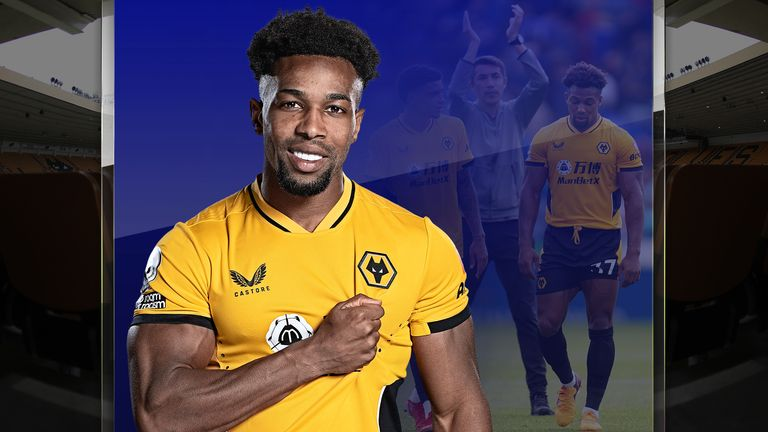 Wolves forward Adama Traore looks set for a new role under Bruno Lage