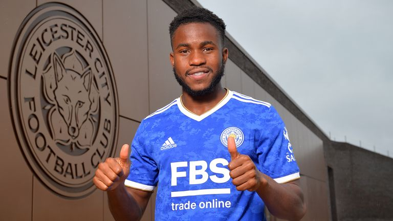 SEAGRAVE, ENGLAND - AUGUST 31: Leicester City unveil new signing Ademola Lookman at Leicester City Training Ground on August 31, 2021 in Seagrave, United Kingdom. (Photo by Plumb Images/Leicester City FC via Getty Images)