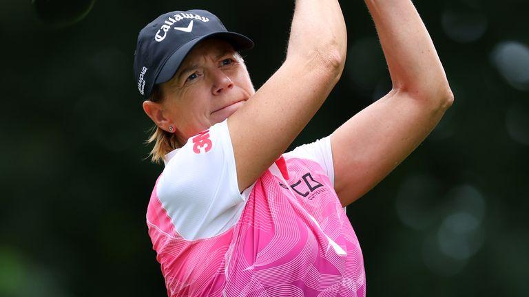 Annika Sorenstam shot four-under par in the final round on her way to victory at the USSenior Women's Open